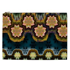 Ornate Floral Textile Cosmetic Bag (xxl)