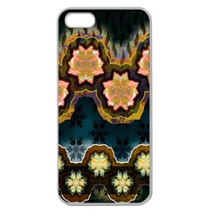 Ornate Floral Textile Apple Seamless iPhone 5 Case (Clear)