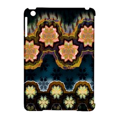 Ornate Floral Textile Apple iPad Mini Hardshell Case (Compatible with Smart Cover)