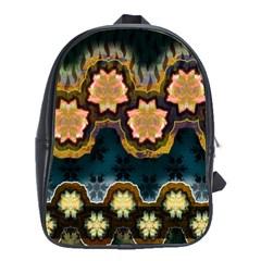 Ornate Floral Textile School Bags (XL)