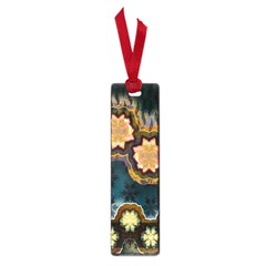 Ornate Floral Textile Small Book Marks