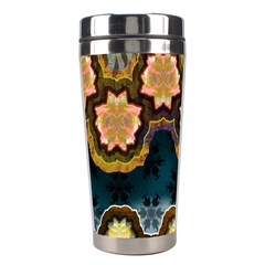Ornate Floral Textile Stainless Steel Travel Tumblers