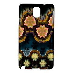 Ornate Floral Textile Samsung Galaxy Note 3 N9005 Hardshell Case