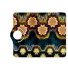 Ornate Floral Textile Kindle Fire HDX 8.9  Flip 360 Case