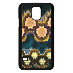 Ornate Floral Textile Samsung Galaxy S5 Case (Black)