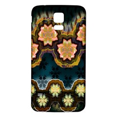 Ornate Floral Textile Samsung Galaxy S5 Back Case (White)