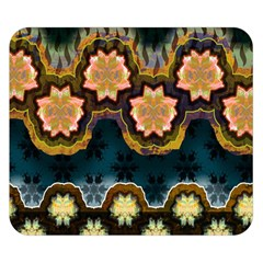 Ornate Floral Textile Double Sided Flano Blanket (Small)