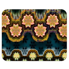 Ornate Floral Textile Double Sided Flano Blanket (Medium)