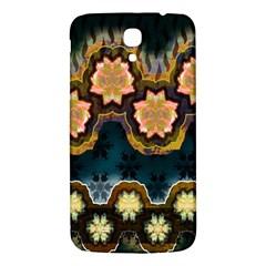 Ornate Floral Textile Samsung Galaxy Mega I9200 Hardshell Back Case