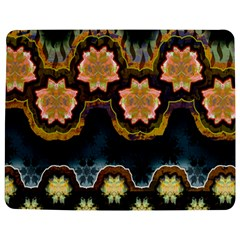 Ornate Floral Textile Jigsaw Puzzle Photo Stand (Rectangular)