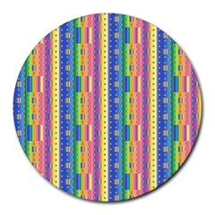 Psychedelic Carpet Round Mousepads