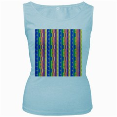 Psychedelic Carpet Women s Baby Blue Tank Top