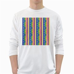 Psychedelic Carpet White Long Sleeve T-Shirts