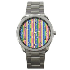 Psychedelic Carpet Sport Metal Watch