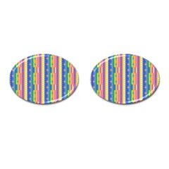 Psychedelic Carpet Cufflinks (Oval)