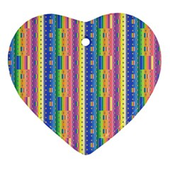 Psychedelic Carpet Heart Ornament (Two Sides)