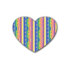 Psychedelic Carpet Heart Coaster (4 pack)