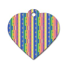 Psychedelic Carpet Dog Tag Heart (One Side)