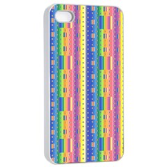Psychedelic Carpet Apple iPhone 4/4s Seamless Case (White)