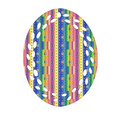 Psychedelic Carpet Oval Filigree Ornament (Two Sides)