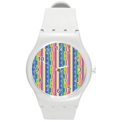 Psychedelic Carpet Round Plastic Sport Watch (M)