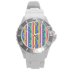 Psychedelic Carpet Round Plastic Sport Watch (L)