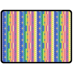 Psychedelic Carpet Double Sided Fleece Blanket (Large)