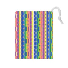 Psychedelic Carpet Drawstring Pouches (Large)