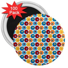 Star Ball 3  Magnets (100 pack)