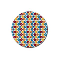 Star Ball Rubber Round Coaster (4 pack)