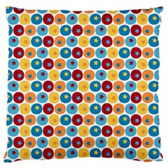 Star Ball Large Flano Cushion Case (One Side)