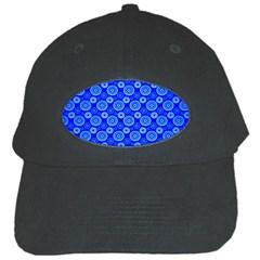Neon Circles Vector Seamles Blue Black Cap