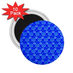 Neon Circles Vector Seamles Blue 2.25  Magnets (10 pack)