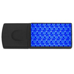 Neon Circles Vector Seamles Blue USB Flash Drive Rectangular (2 GB)