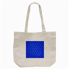 Neon Circles Vector Seamles Blue Tote Bag (Cream)
