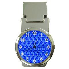Neon Circles Vector Seamles Blue Money Clip Watches