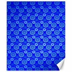 Neon Circles Vector Seamles Blue Canvas 8  x 10