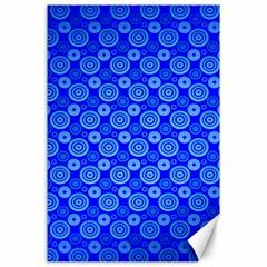 Neon Circles Vector Seamles Blue Canvas 24  x 36