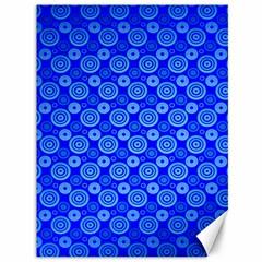 Neon Circles Vector Seamles Blue Canvas 36  x 48