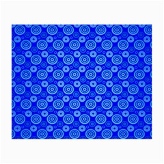 Neon Circles Vector Seamles Blue Small Glasses Cloth (2-Side)