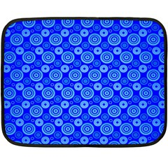 Neon Circles Vector Seamles Blue Fleece Blanket (Mini)