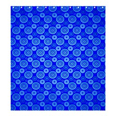 Neon Circles Vector Seamles Blue Shower Curtain 66  x 72  (Large)