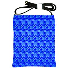 Neon Circles Vector Seamles Blue Shoulder Sling Bags