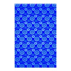 Neon Circles Vector Seamles Blue Shower Curtain 48  x 72  (Small)