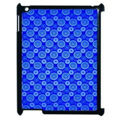 Neon Circles Vector Seamles Blue Apple iPad 2 Case (Black)