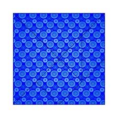 Neon Circles Vector Seamles Blue Acrylic Tangram Puzzle (6  x 6 )