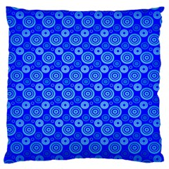 Neon Circles Vector Seamles Blue Large Cushion Case (Two Sides)