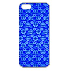 Neon Circles Vector Seamles Blue Apple Seamless iPhone 5 Case (Clear)