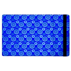 Neon Circles Vector Seamles Blue Apple iPad 2 Flip Case