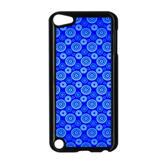 Neon Circles Vector Seamles Blue Apple iPod Touch 5 Case (Black)